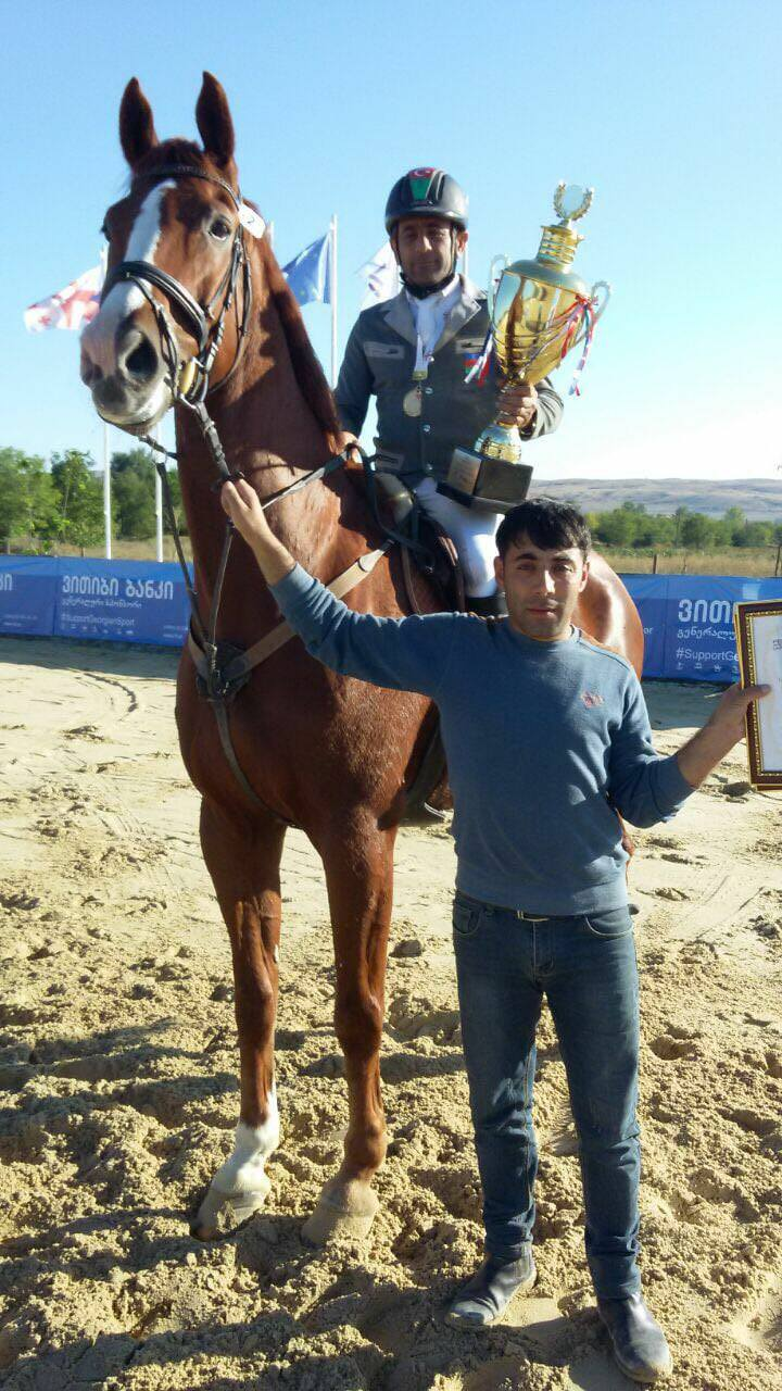 AZE Rider Rahib Ismayilov got winning place in Tbilisi (CSI1*)